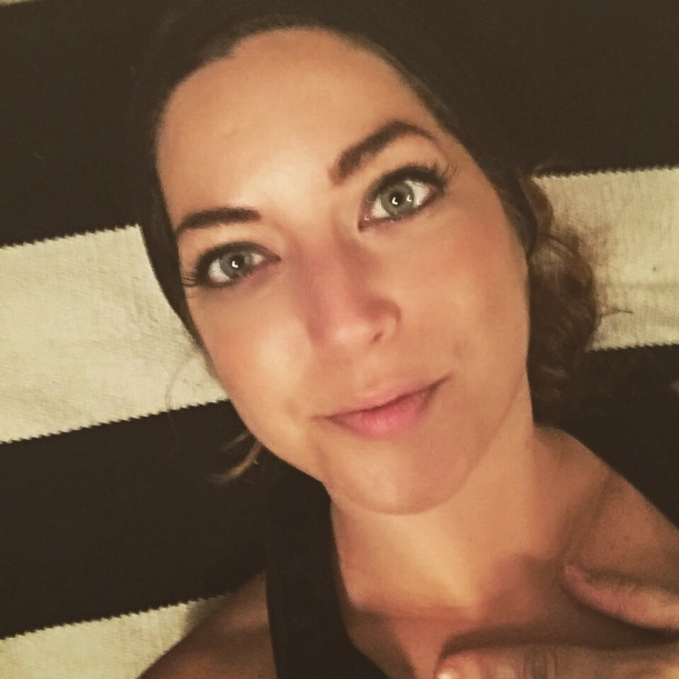 In the fitness challenge group, we share sweaty selfies of ourselves to hold each other accountable. This is me on the floor, unable to get up. Ha!